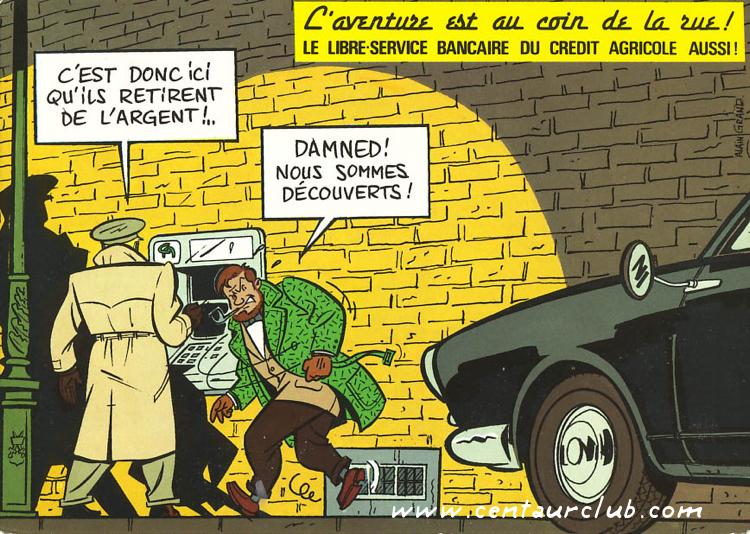 Publicité pour le crédit agricole avec Blake et Mortimer par Alain Grand - centaurclub