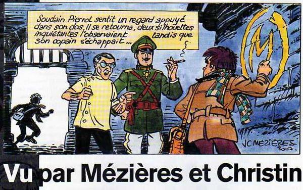 """hommage à Blake et Mortimer par Mézières et Christin en 2007, dans """"le monde 2"""" - centaurclub - dargaud"""