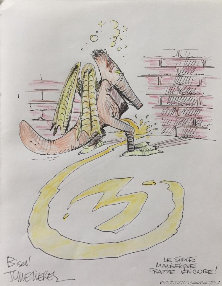un shingouz pour rendre hommage à Blake et Mortimer par JC Mézières - dargaud - centaurclub