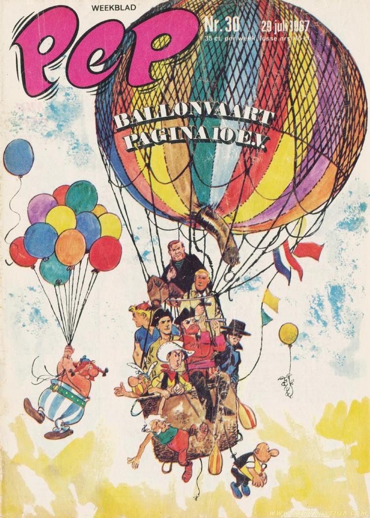 Blake et Mortimer par Jan Wesseling couverture PEP juin 1967 centaurclub