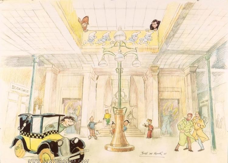 Bob de Moor dessine Blake et Mortimer au CBBD centaurclub