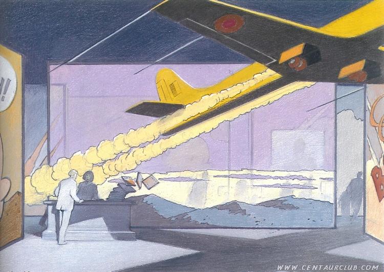 blake mortimer golden rocket de l'espadon par Peeters et Schuiten Centaurclub