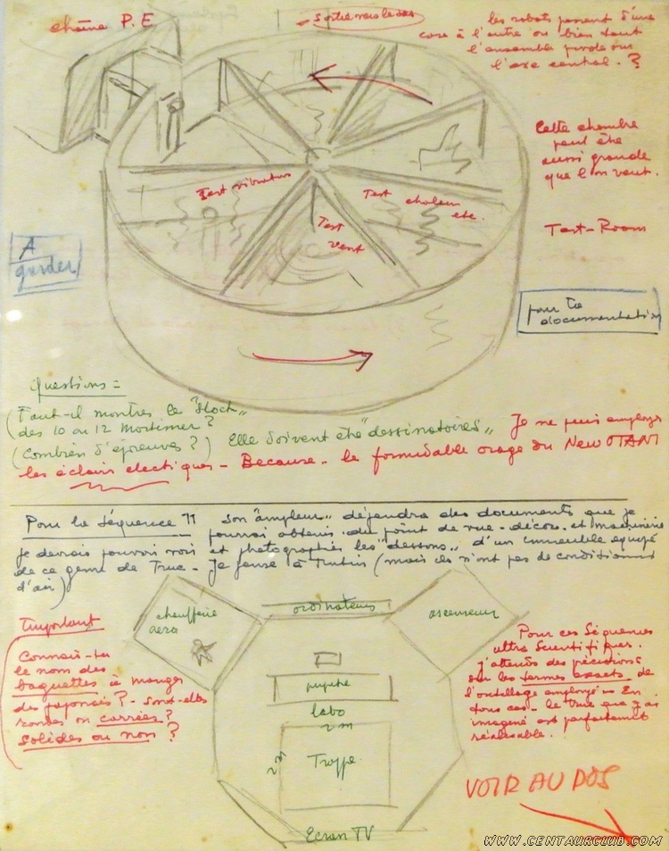 Recherche de Jacobs pour les tests que doivent subir les robots du professeur Satô. Blake Mortimer centaurclub