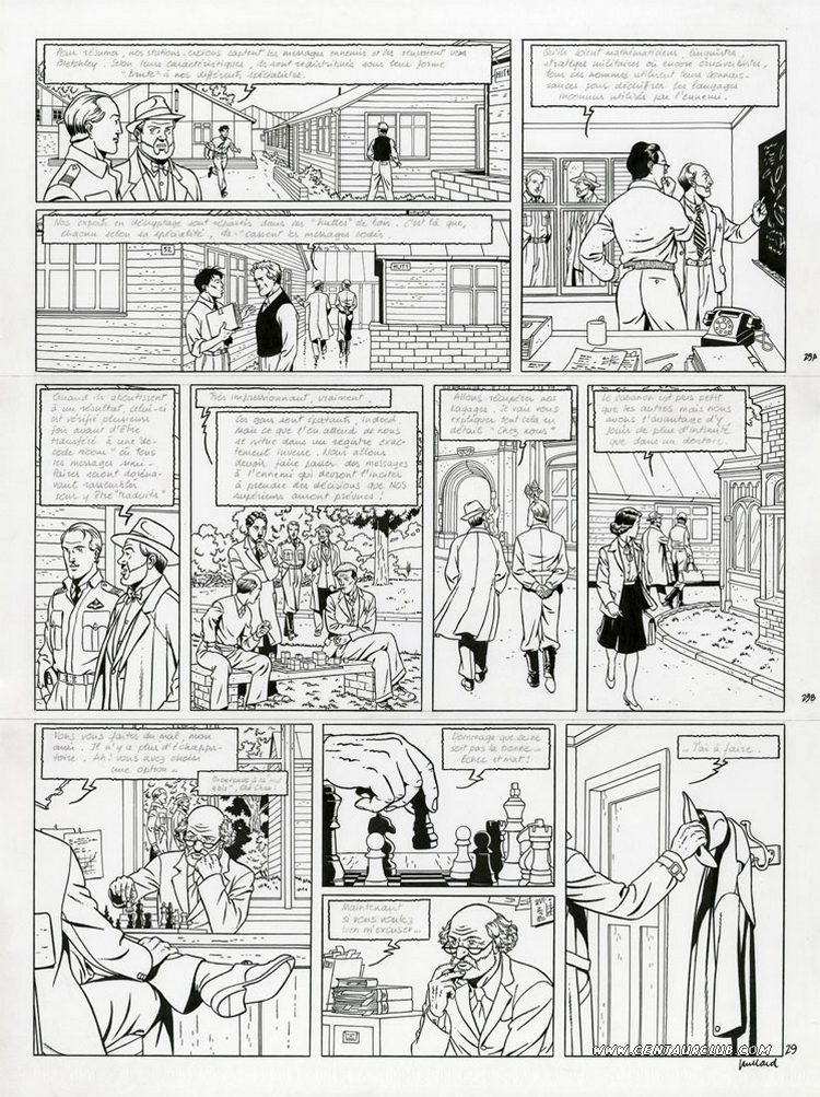 Blake et Mortimer planche le bâton de plutarque par André Juillard sur un scénario d'Yves Sente. centaurclub