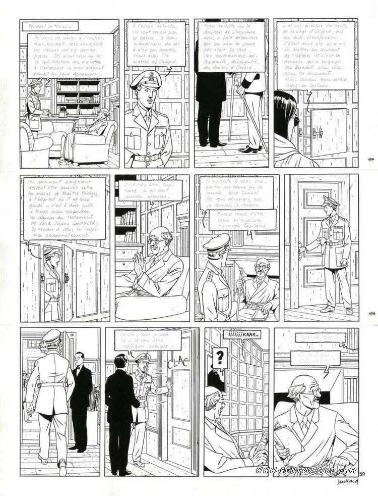 Blake et Mortimer planche le testament de William S. par André Juillard sur un scénario d'Yves Sente. centaurclub