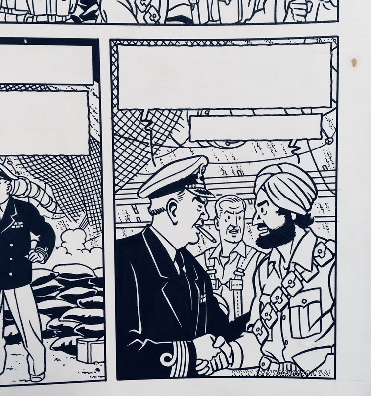 """Case du prochain Blake et Mortimer """"la vallée des immortels"""" par Sente, Von Donger et Berserik. centaurclub"""