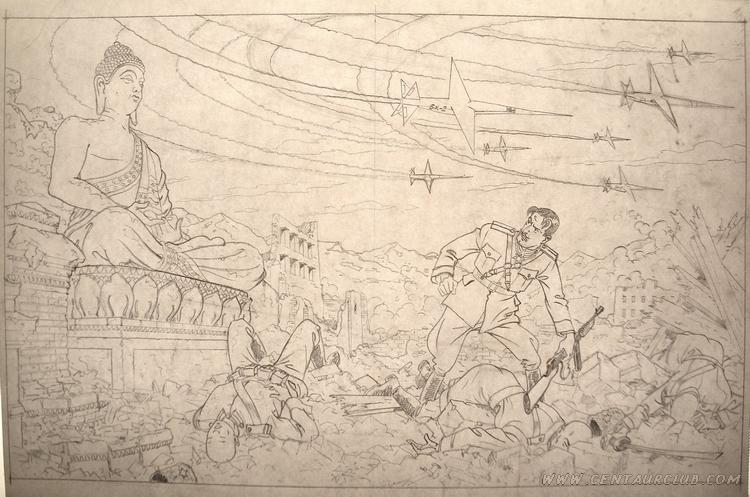 le colonel Olrik après une attaque des espadons par Teun BERSERIK - centaurclub