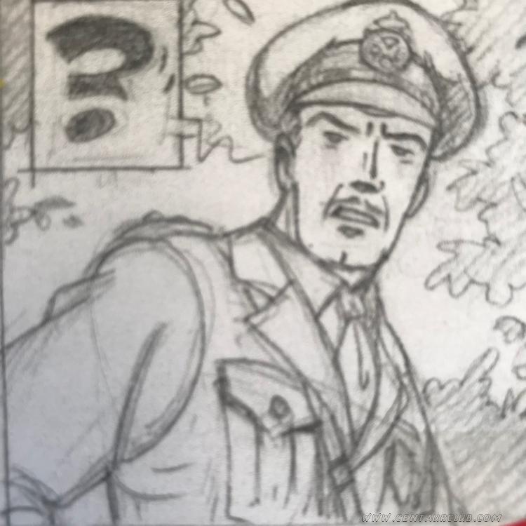 Portrait crayonné du capitaine Blake par Teun Berserik - centaurclub - dargaud