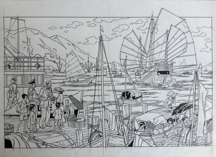 "Hors-Texte de ""la vallée des immortels"" par Peter VAN DONGEN - centaurclub - dargaud"