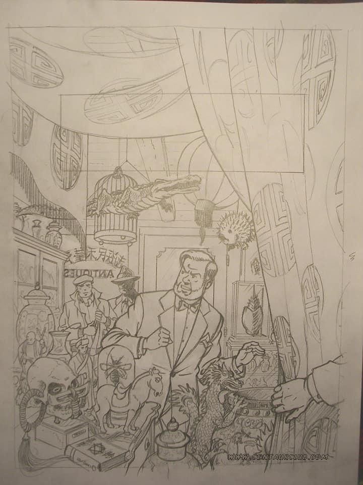 Blake et Mortimer projet de couverture crayonné par Teun Berserik centaurclub