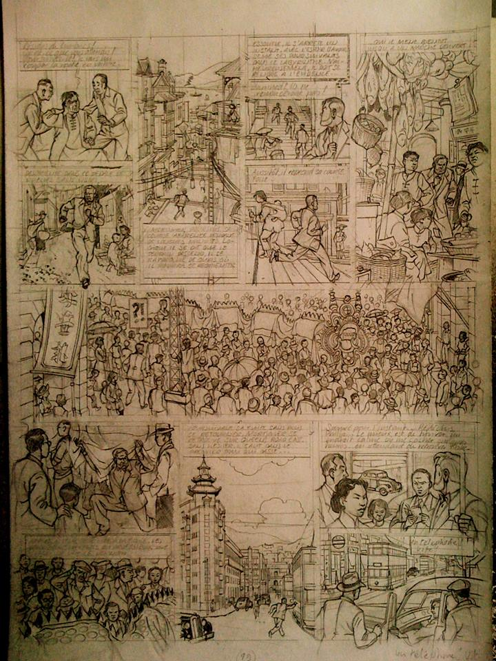 planche  20 crayonnee de menace sur Hong-Kong la vallée des immortels centaueclub