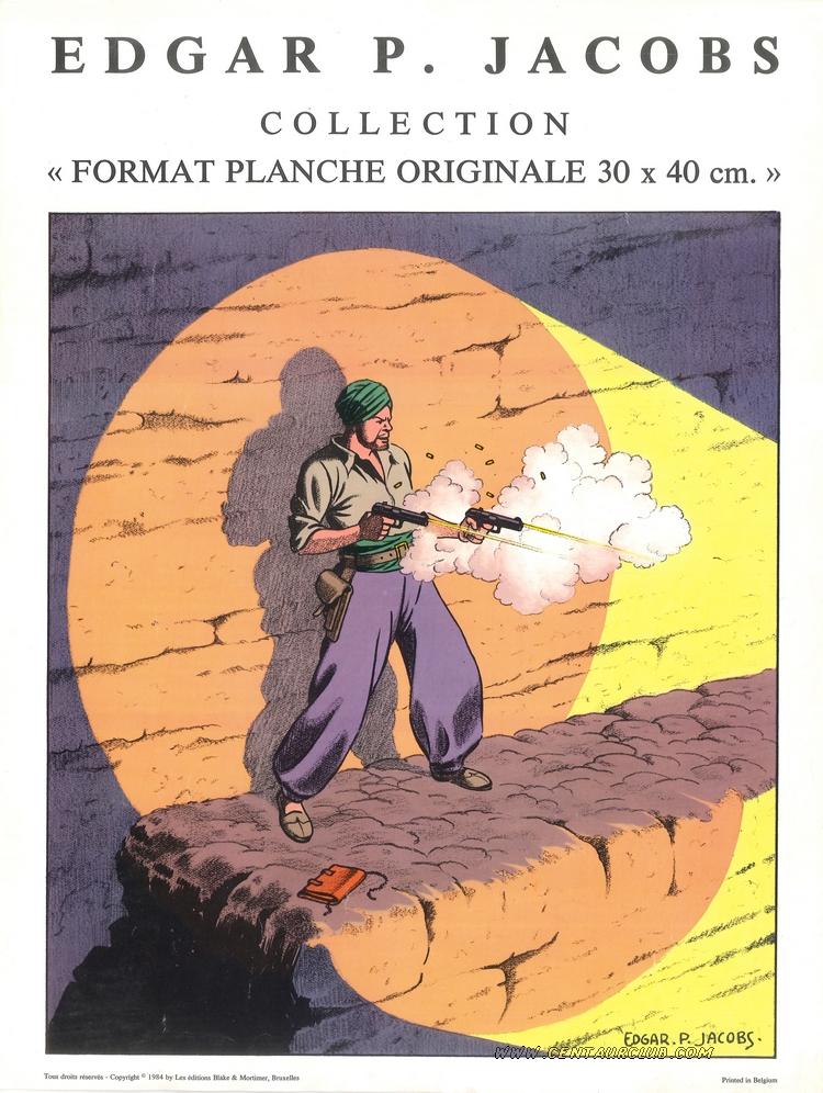 blake et Mortimer preuve d'achat de l'album format planche du secret de l'espadon 1 en 1984. centaurclub
