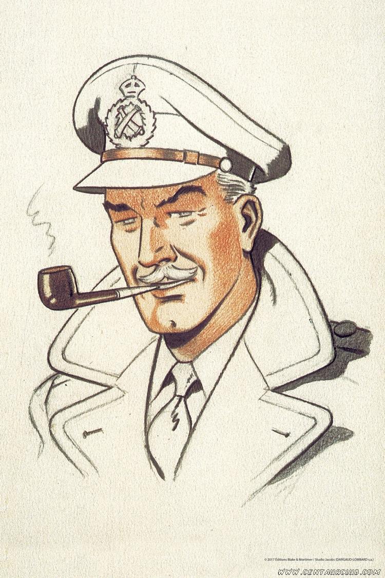 blake mortimer portrait du capitaine blake centaurclub