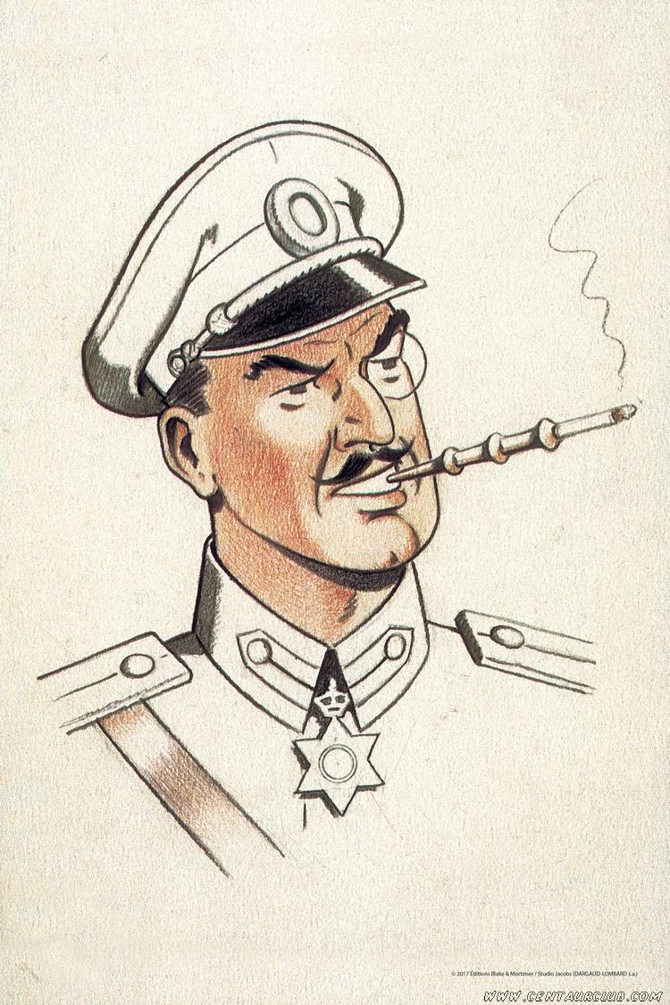 blake mortimer portrait du colonel Olrik Art To Print centaurclub