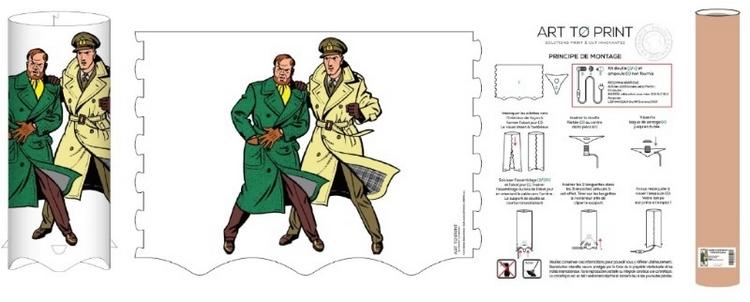 Lampe Blake et Mortimer - centaurclub